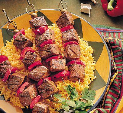 Spicy Portuguese Beef Steak Kabobs