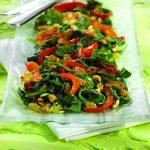 Spinach with Garlic, Raisins and Peanuts
