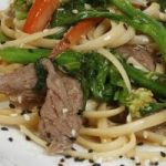 Stir-fry with Linguine, Beef and Vegetables
