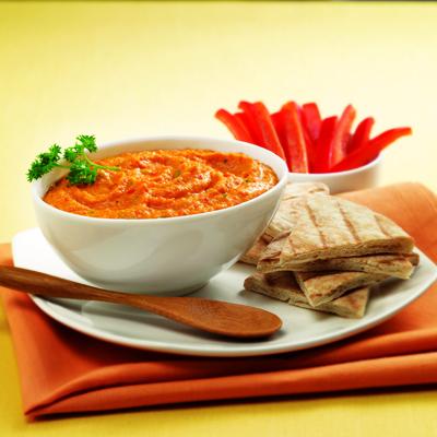 Sweet Red Pepper Hummus Recipe Photo - Diabetic Gourmet Magazine Recipes
