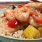 Teriyaki Shrimp Stir-fry with Pineapple and Peppers