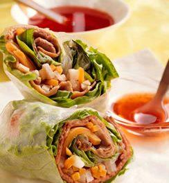 Vietnamese Beef & Vegetable Spring Rolls