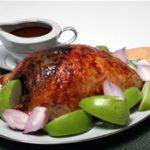 Walnut-Stuffed Turkey Breast with Cider Gravy