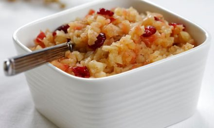 Warm Apple and Cranberry Sauce