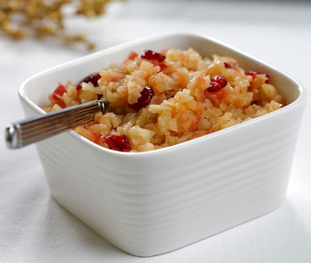 Warm Apple and Cranberry Sauce Recipe Photo - Diabetic Gourmet Magazine Recipes