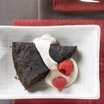 Warm Brownie Wedges With Java Cream