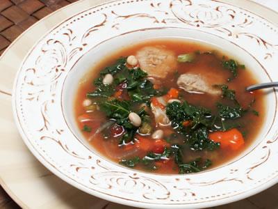 White Bean, Pork, and Greens Soup