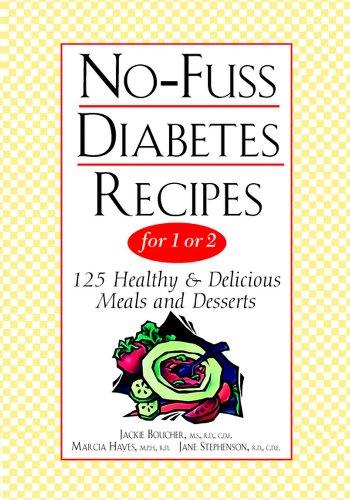 No-Fuss Diabetes Recipes Book Cover Image
