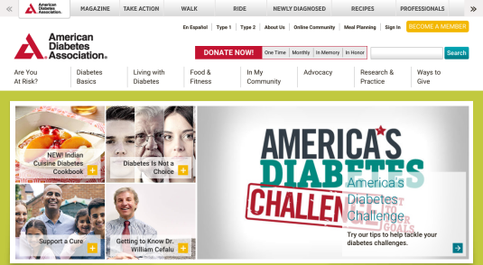 Websites for Charitable and Not-for-Profit Diabetes Organizations