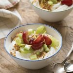 Yogurt with Grape and Cucumber Salad Topped with Dukkah