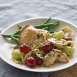 Seared Chicken with Grapes and Artichokes