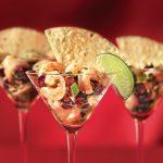 Cranberry Shrimp Ceviche Appetizer