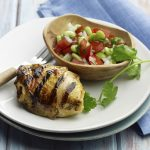 Curry-Lime Chicken Thighs with Pickled Tomato-Bean Salad