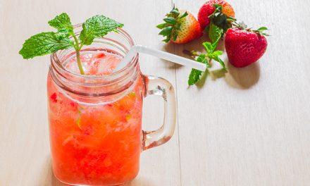 Strawberry and Orange-Rhubarb Refresher with Mint